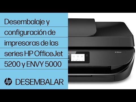 Desembalaje y configuración de impresoras de las series HP OfficeJet 5200 y ENVY 5000   HP