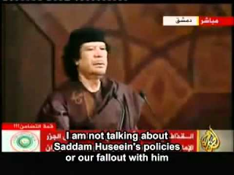 Gaddafi MUST watch - predict his end and Al Assad laughs