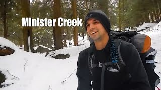 Winter backpacking Minister Creek, Allegheny National Forest