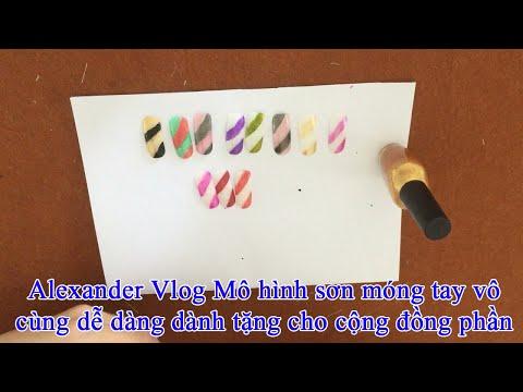 Alethea Vlog Mô phỏng sơn  móng tay vô cùng dễ dàng dành tặng cho  con phần 11 năm 2021