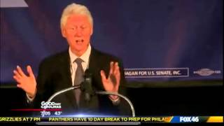 Fox 46: President Clinton Campaigns with Kay