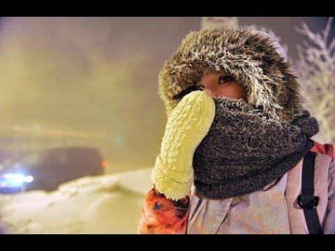 """Россия. Трескучие морозы сковали Сахалин, Дальний Восток, города Сибири и Урала.  """"И там живут люди"""""""