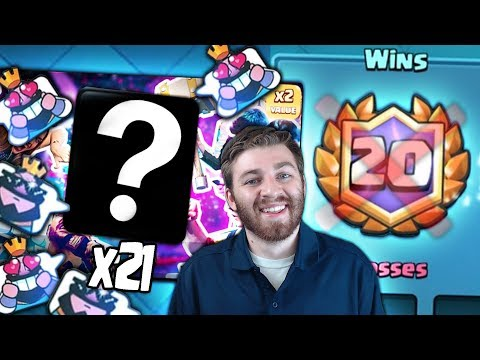 OPENING x21 NEW SHOP OFFERS & NEW UPDATE EMOTES?! | Clash Royale | 20 WINS SO HARD!