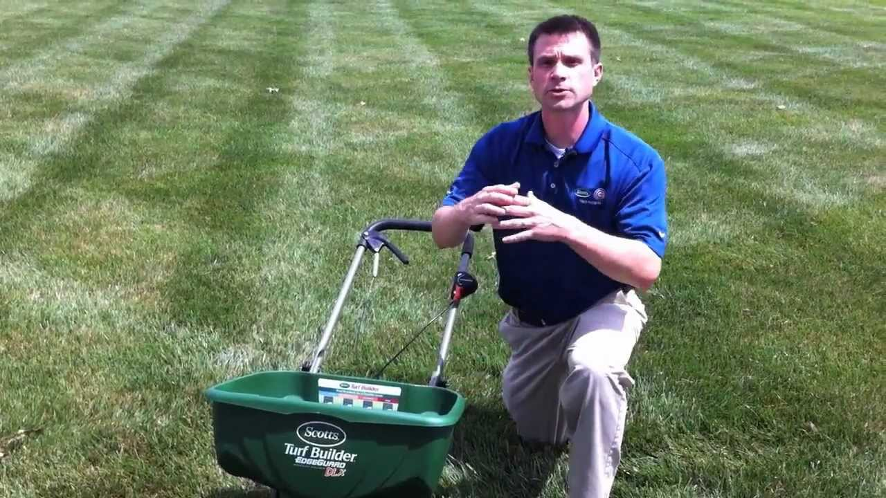 Using A Lawn Spreader With The Scotts Edgeguard Feature Stuart Ociate You