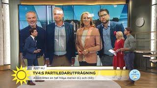 Hettade till om abortfrågan i andra omgången av TV4:s partiledarutfrågning  - Nyhetsmorgon (TV4)