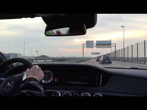 Mercedes Benz S63 AMG 585HP First drive, Onboard
