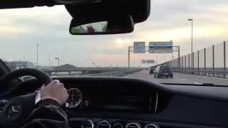 Mercedes Benz S63 AMG (585HP) //First drive, Onboard