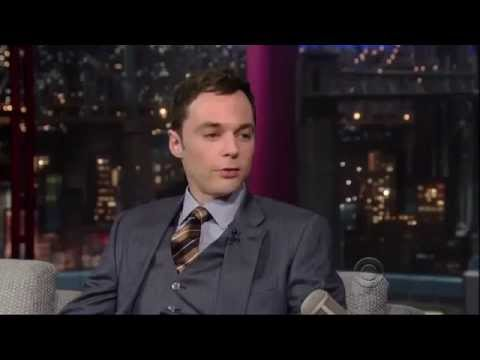 Jim Parsons Sheldon big bang theory Late night Show David Letterman 2013