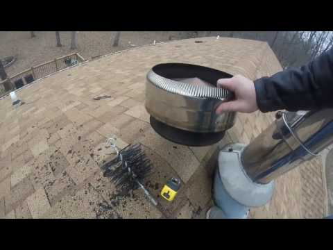 HOW TO :Clean your own chimney pipe. DIY CHIMNEY CLEANING.
