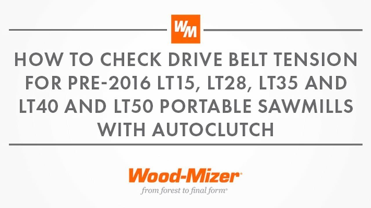 Service & Maintenance Tips: LT40/LT50 w/AutoClutch Drive Belt Tension