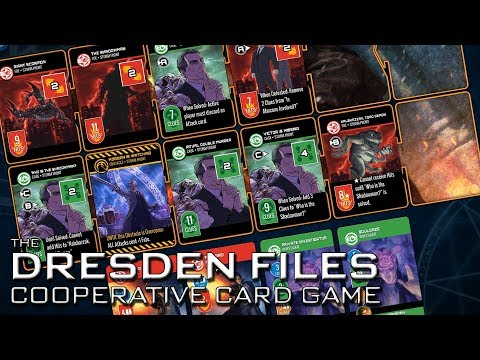 Dresden Files Cooperative Card Game - Let's Play / Gameplay / Preview
