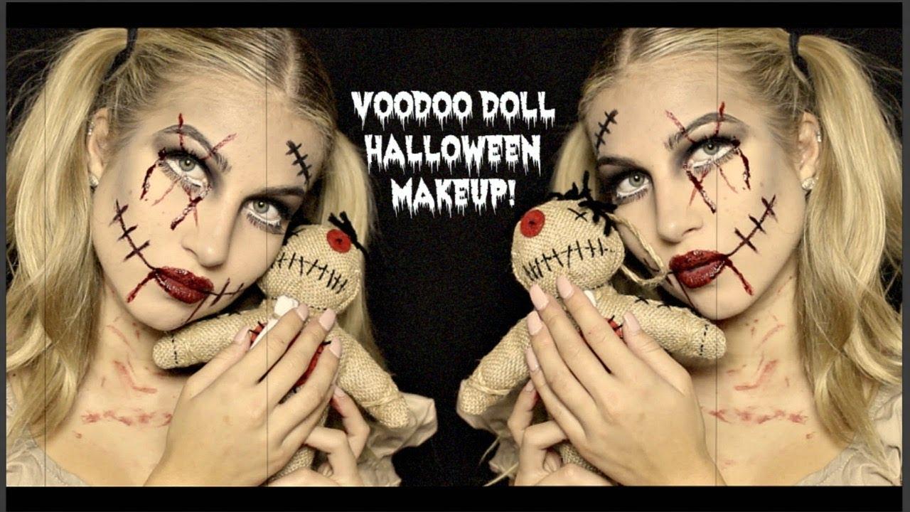 Creepy Voodoo Doll Makeup