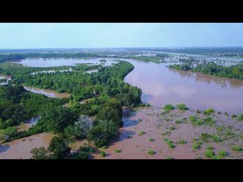 Drone Footage: University Near the Brazos River 9/1/17