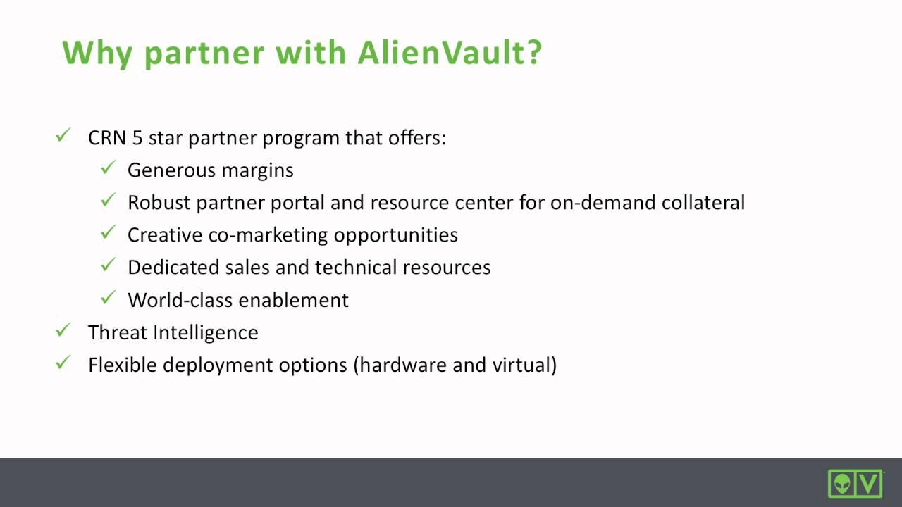 AlienVault Partner Program Introduction