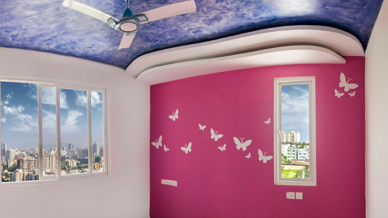 Butterfly Stencil Wall Painting Design