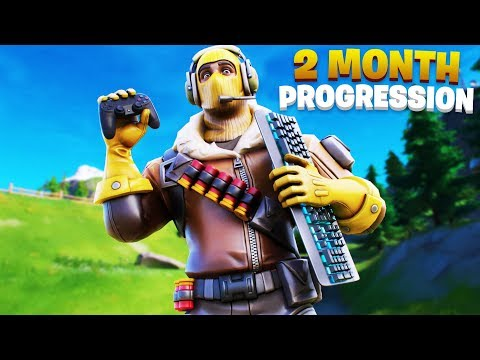 2 Month PS4 To PC Progression! Controller To Keyboard & Mouse Fortnite! (Fortnite Controller To KBM)