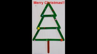 NEW!! DIY How to make Christmas tree decor using  popsicle/wooden sticks