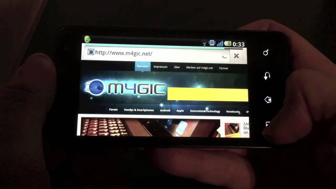 LG P990 Optimus speed test