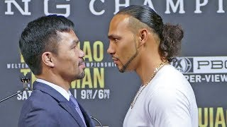 Manny Pacquiao vs. Keith Thurman FACE TO FACE in New York City