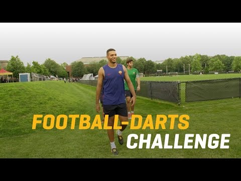 AS Roma Football Darts Challenge: Alisson v Juan Jesus
