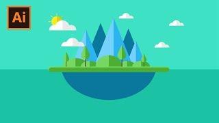 Membuat Nature Flat Design   Adobe Illustrator (Bahasa Indonesia)
