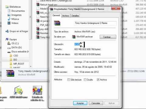 Tutorial  Como Hacer Carpeta ISO Para PSP  Muy Bien Explicado 100 %  !!