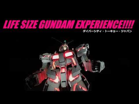 The Gundam Experience!!! At Diver City, Tokyo Japan!!!