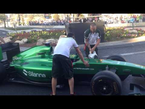 Formula 1 Jerusalem Israel engine fail