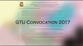 mp gtu degree diploma convocation online form   to mp3 gtu degree diploma convocation online form filling procedure 2017