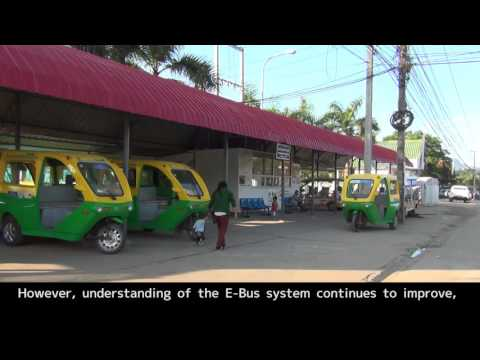 The project to disseminate the E-trike in Laos by JICA