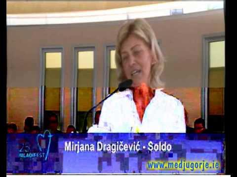 Mirjana Day 5 2014 Medjugorje Youth Festival - YouTube