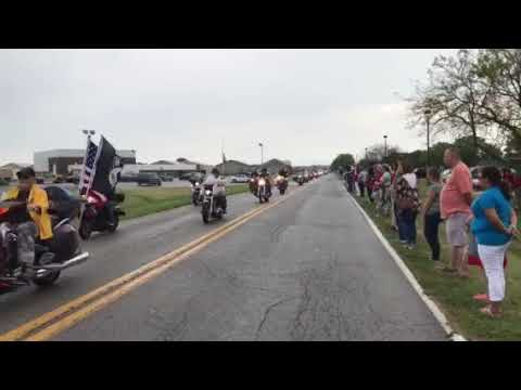 Motorcade for Sgt. Jonathon Hunter
