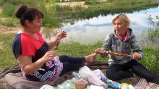 К Наташе в гости на выходные в Санино. Отдыхаем на озере.