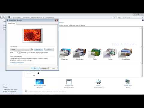 How to Disable Screen Saver in Windows 7 - YouTube