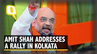 Amit Shah Addresses a Rally in Kolkata | The Quint