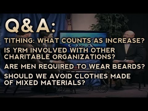Q&A - Tithes, Charities, Wearing Beards, and Mixing Wool and Linen - DTT (Classic TV Series)
