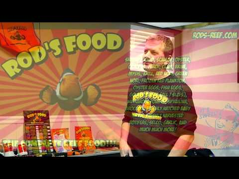 rod's food interview - frozen saltwater fish food