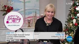 Patricia Nash Gracchi Tartan Leather Frame Satchel