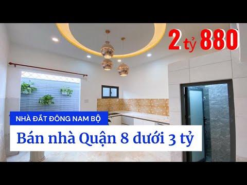Video nhà bán Quận 8 dưới 3 tỷ, gần chợ Phạm Thế Hiển phường 4 Quận 8, nhà mới xây cực đẹp, sổ hồng riêng