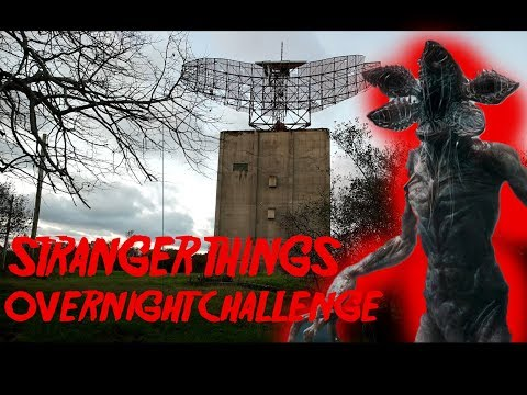 ABANDONED MILITARY BASE - STRANGER THINGS REAL LIFE EVENTS INSPIRED OVERNIGHT CHALLENGE
