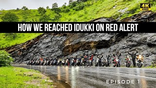 CHENNAI TO IDUKKI WITH 21 RIDERS | RED ALERT IN KERALA | DRONE SHOTS in 4K