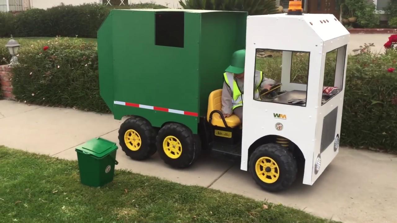 Garbage Truck Power Wheels : Garbage truck power wheels custom made costume fun