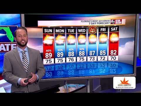 Florida's Most Accurate Forecast With Jason On Saturday, October 26, 2019