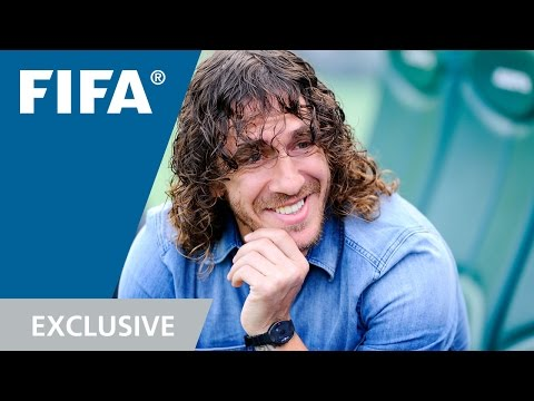 Puyol Watches Puyol At The World Cup