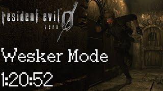 Resident Evil Zero HD Remaster Wesker Mode Speedrun (PC 60FPS) - 1:20:52