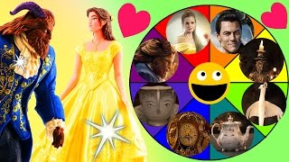 beauty and the beast spin the wheel toy game belle beast gaston dolls from the new disney movie