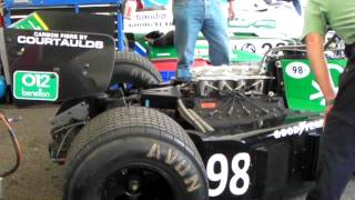 F1 Sound!! Tyrrell Cosworth 012 DFV V8 Engine warming-up