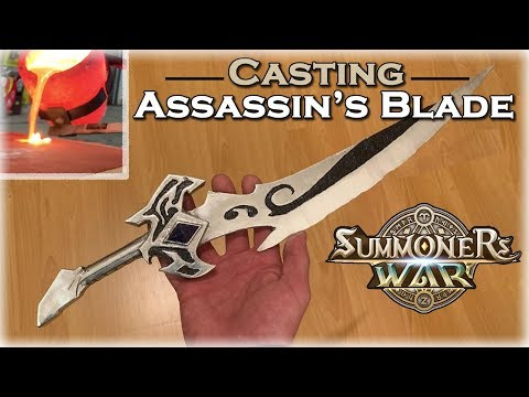 Aluminum Casting Assassin's Blade - Summoners War DIY Casting