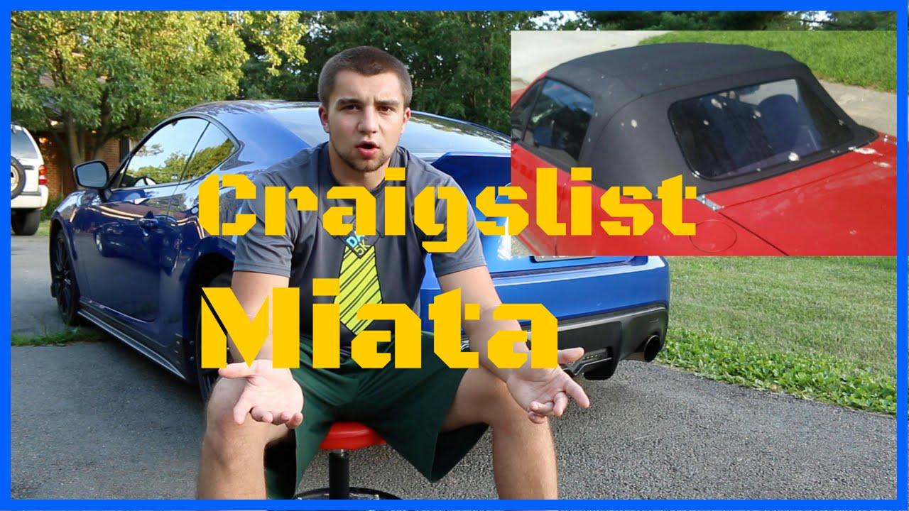 Buying a Used Mazda Miata - Craigslist ! - YouTube