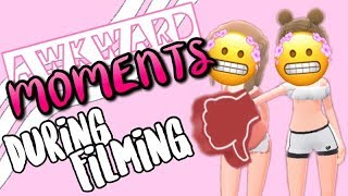 AWKWARD Moments During Filming! (Bloopers)